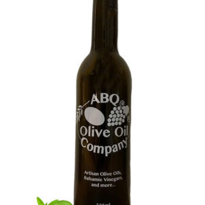 ABQ Olive Oil Company bottle with limes