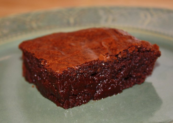 Almost Flourless Dark Chocolate Balsamic & Blood Orange Olive Oil Brownies