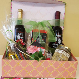 ABQ Olive Oil Company custom gift boxes