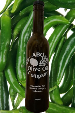 ABQ Olive Oil Company's green chili oil