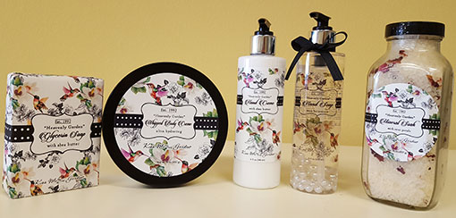 Kiss Me in the Garden skin care collection
