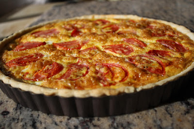 Oven Roasted Tomato Quiche with Ultra-Premium Extra Virgin Olive Oil Pastry Crust